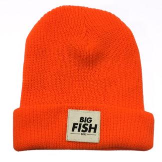 Bonnet Fluo Orange Logo Big Fish 1983 8d2c2fe7326